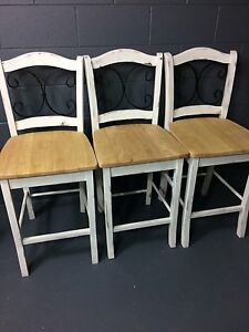 Revamped Shabby Chic bar stools Worongary Gold Coast City Preview