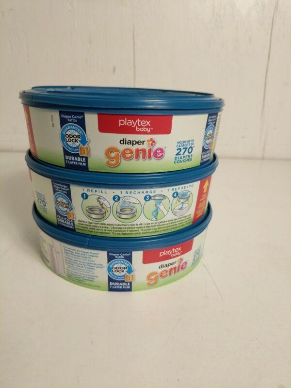 Playtex Diaper Genie Refill Bags 3 Pack New
