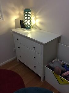 White wooden chest of draws. $25 Wavell Heights Brisbane North East Preview