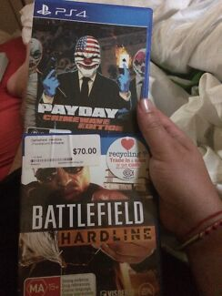 2x ps4 games battlefield and payday2 Curl Curl Manly Area Preview