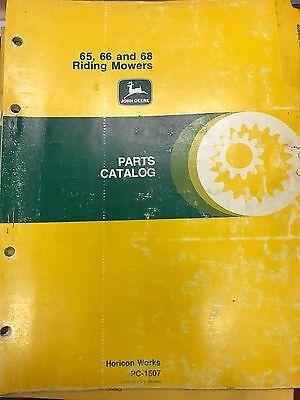 John Deere Parts Catalog 65 66 68 Riding Mowers Pc1507 Used
