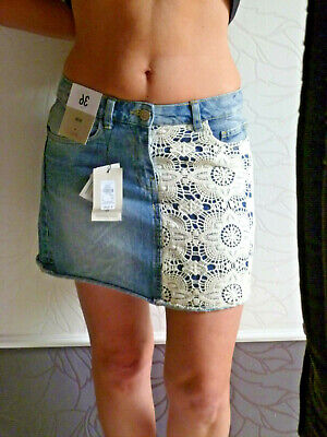 5-pocket Mini Rock (Primark: sexy Mini Jeans Rock Gr. 34-36 XS-S Denim 5-Pocket Blogger Spitze - Neu)