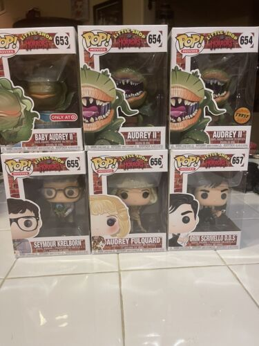 FUNKO POP LITTLE SHOP OF HORRORS ENTIRE COLLECTION WITH CHASE AND LE  - $165.00
