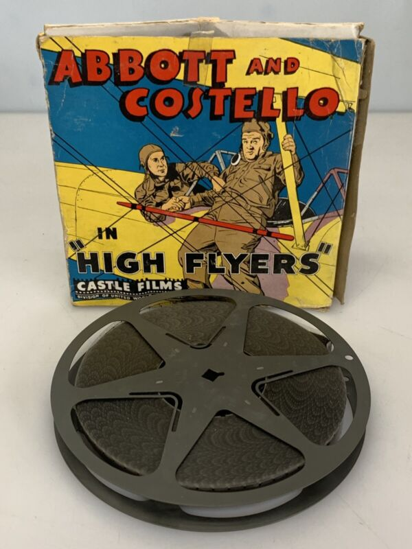 """Castle Films Vintage 16mm Abbott and Costello """"High Flyers"""""""