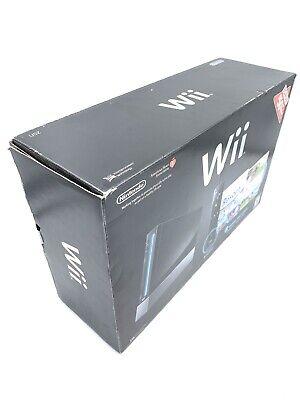 Nintendo Wii Black Console Bundle + Extra Wii Remote, Nunchuk & Sensor Bar READ