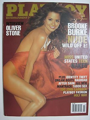 Playboy November 2004 Brooke Burke  Oliver Stone  Miss Us Teen Naked  Plus More