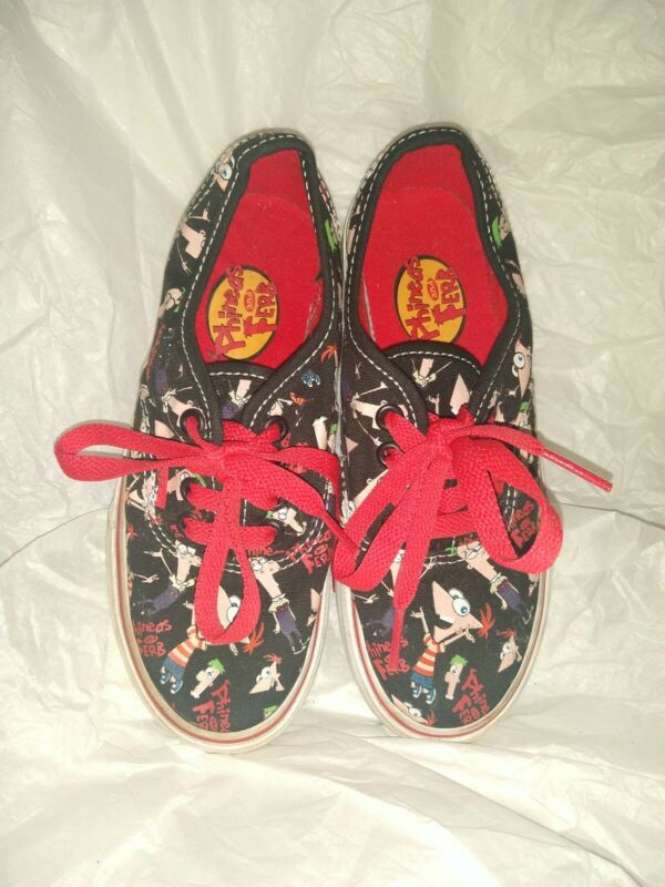 Vans Phineas and ferb Sneakers kids size 11.5