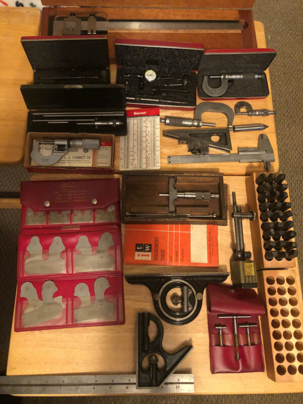 Assortment of Machinist Tools Starrett Brown & Sharpe ect