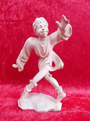 Beautiful, antique wooden figure__Moresca DANCER__ WOOD CARVED __17, 5cm__