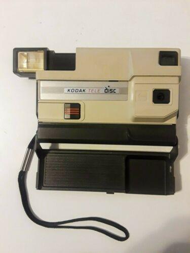 Vintage Tele Disc Camera Kodak with built-in Flash takes 2 AA Alkaline Batteries