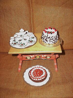 Kuchen Torten Puppenstube Barbie Petra 1:12 oder 1:6 Puppenservice SET 1