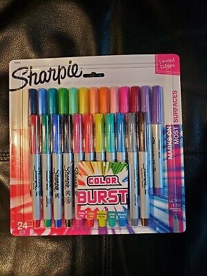 Sharpie Color Burst Ultra Fine Point Marker Permanent Pack 24 Assorted Colors