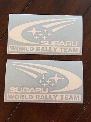 (2) Subaru World Rally Team Decal Car Window Sticker Subi Import JDM  2 Pieces ()