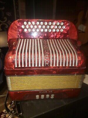 RELISTED Hohner Club IIb F accordion Fa conjunto style los dos gilbertos style