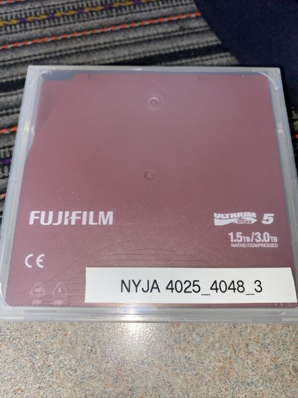 12- Fujifilm LTO-5 Ultrium 5 1.5TB / 3.0TB Data Cartridge