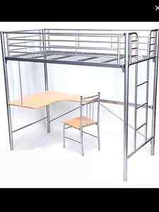 High bunk bed with desk Wagga Wagga Wagga Wagga City Preview