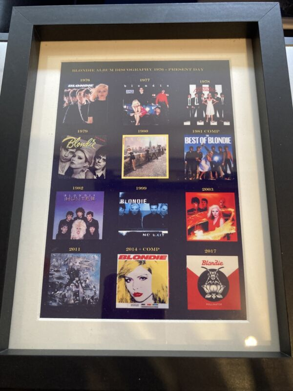 Blondie Album Covers Framed Souvenir Gift