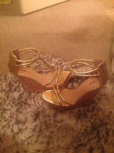 Gorgeous Gold Wedge Heels