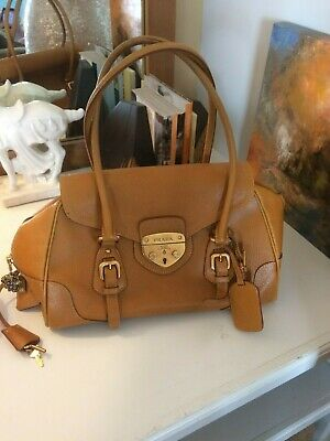 Vintage Prada Tan Leather Bag Purse