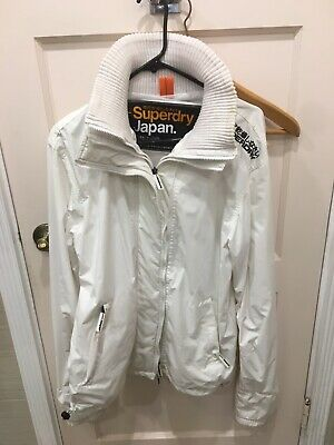 Rare SuperDry Japan Wind Cheater All White Jacket Large Supreme