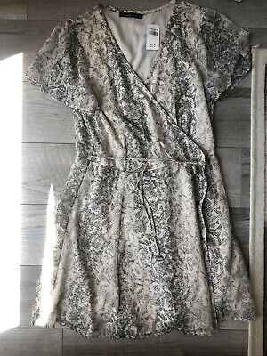 WOMENS ABERCROMBIE & FITCH A&F ANIMAL PRINT Wrap Around GORGEOUS DRESS LARGE New