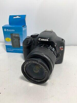 Canon EOS Rebel T2i 18.0MP Digital SLR Camera + EF-S 18-55mm Lens + Charger 32GB