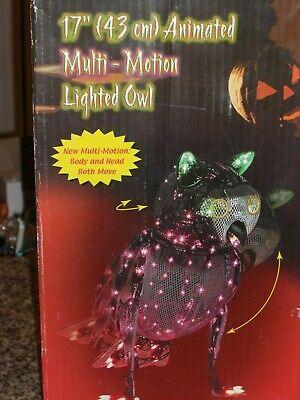 Animated Owl Halloween (VINTAGE Lighted Animated Multi-Motion Halloween OWL Indoor/Outdoor)