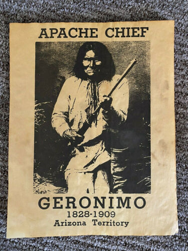Geronimo Apache Chief poster