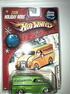 Hot Wheels Holiday Hot Rods Diary Delivery In Green Redline Real Riders