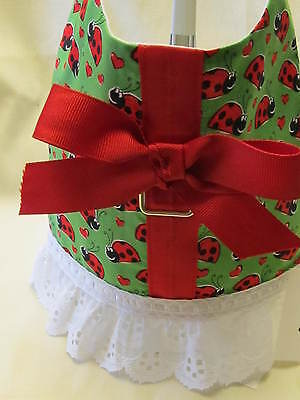 S LADY BUG  DOG HARNESS VERY CUTE HANDMADE & LINED on Rummage