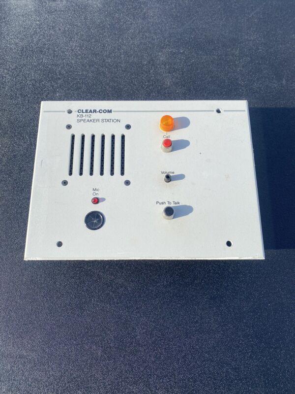 Clear-Com Kb-112 Intercom Systems Speaker Station