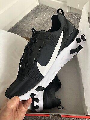 Nike React Element 55 Black White UK 9 BNIB Epic