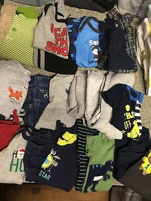 Baby boys size 0-3 & 3 Months clothes lot Spring/Fall 12 Outfits VGC Name Brands
