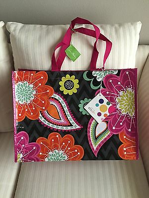 Vera Bradley Market Tote Ziggy Zinnia NWT Eco Bag Recycled Reuse Many Uses - Recycled Tote Bags