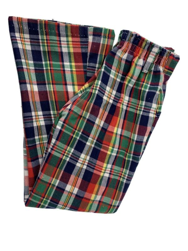 Plaid 70's Youth Boys Pants Bell Bottom Size 8 Health Tex Made In USA