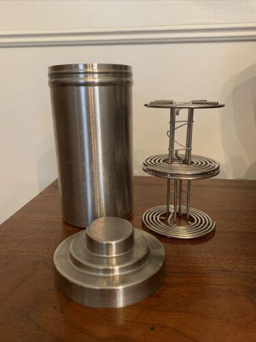 3.5 Diam, 7.125 Tall NIKOR Stainless Steel Film Developing Tank 2 Reels - $31.00