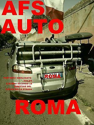 PORTABICI POSTERIORE AFS 3 BINARI X FORD S-MAX SMAX PER 3 BICI...