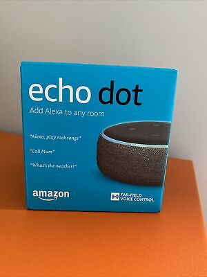 *NEW* Amazon Echo Dot 3rd Generation Smart Speaker Alexa - Black Charcoal...