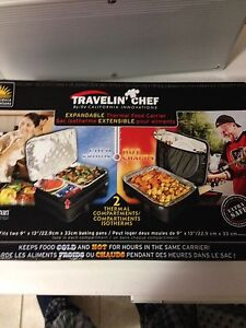 Travelin chef expandable thermal food carrier