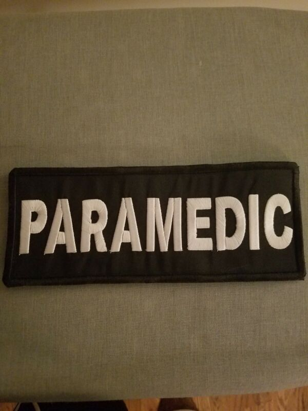 Tactical paramedic patch Hook And Loop