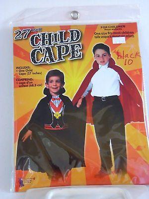 Child's 27 Inch Black Cape With Collar Halloween Dress Up Costume Birthday](27 Dresses Halloween Costume)