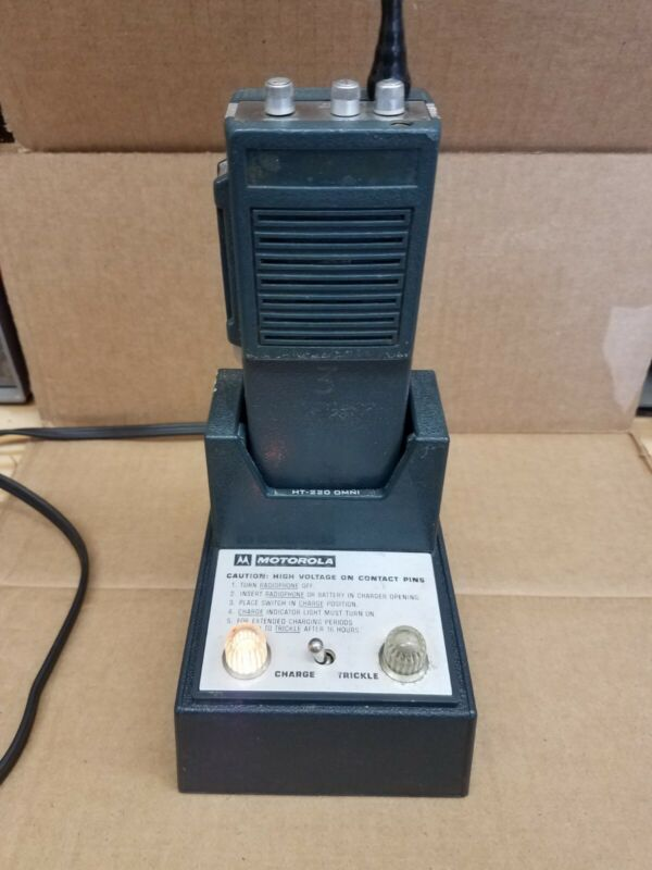 Motorola HT-220 Omni Charger and FM Radio Charger Tested Working Condition