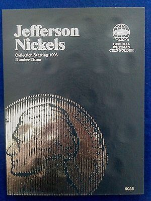 Whitman Jefferson Nickel #3 1996-2015 Coin Folder, Album Book #9035