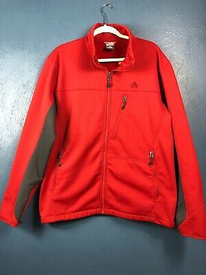Nike Fit Therma ACG Men's Fleece Lined Full Zip Red and Gray Jacket Size XL