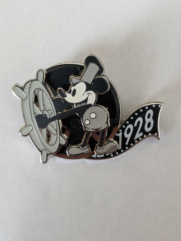 Steamboat Willie Mickey Mouse 90th Surprise Box DLP Disneyland Paris LE400 Pin