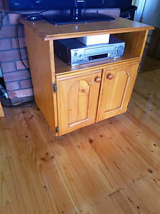 Wooden tv cabinet Rowville Knox Area Preview