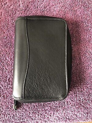 Franklin Covey Quest 6 Ring Binder Small Planner Black Leather Gently Used