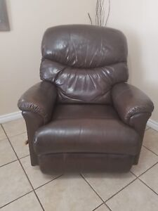 Genuine Leather LaZBoy Rocker/Recliner Chair
