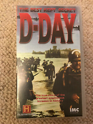 Rare History Channel VHS Cassette D-Day The Best Kept Secret. WW2