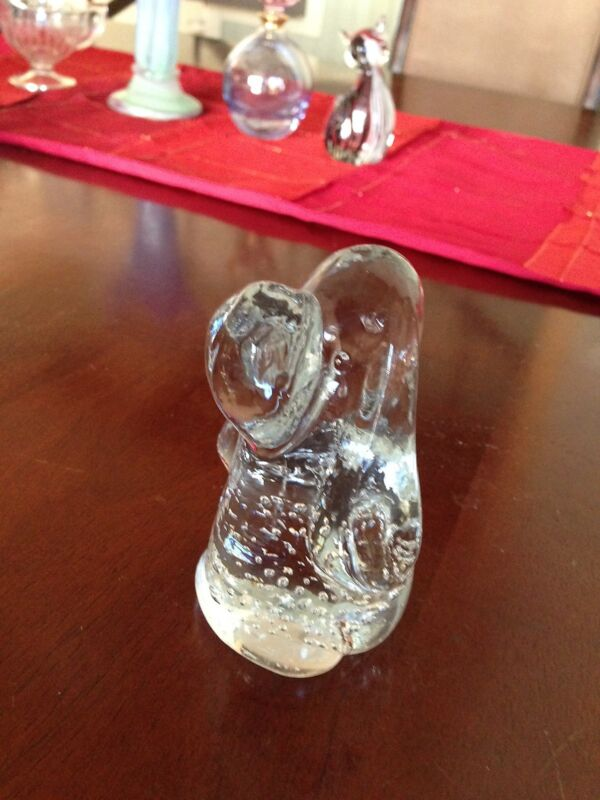 Bubble Glass Dog Figure Figurine by  LEONARD SILVER ??